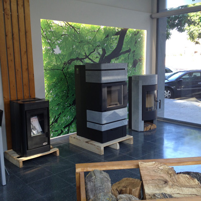 Caldera de Biosua para el showroom de Maurici Biomass.